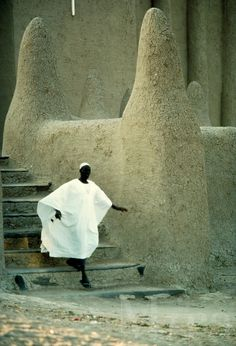 Departing the mosque . Mali