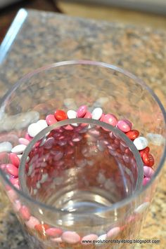 how to do a candy filled vase so w/ jelly beans for Easter!