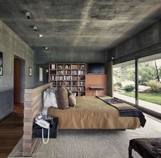 Thoughts about concrete & wood combination? Atalaya House by Alberto Kalach Yoshihiro Koitani - Architecture and Home Decor - Bedroom - Bathroom - Kitchen And Living Room Interior Design Decorating Ideas - Decor Interior Design, Interior Design Living Room, Room Interior, Design Bedroom, Modern Interior, Interior Office, Home Decor Bedroom, Master Bedroom, Diy Bedroom