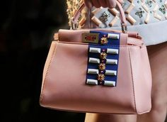The gem-encrusted #MiniPeekaboo bag from the #Fendi #SS15 collection >  http://bit.ly/1vfT92y