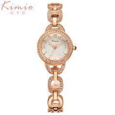 >> Click to Buy << Kimio Brand Luxury Women's watches with Rose Gold Fine Alloy Strap Quartz Watch Women Dress Bracelet Watch relogio feminino #Affiliate