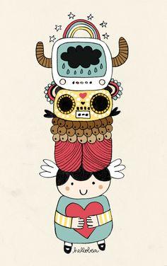 totem #totem #illustration