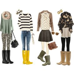 What To Wear With Rain Boots ...now I need some rainboots.