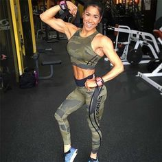 Fitness Athletic Sport Wear Army Green Workout Set Gym Clothes Women Yoga Suit Jog Yoga Wear Women Sport Yoga Set Gym Ropa Mujer-in Yoga Sets from Sports & Entertainment on Aliexpress.com | Alibaba Group #yogaclothes #yogaset