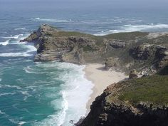 The Cape of Good Hope  is a rocky headland on the Atlantic coast of the Cape Peninsula, South Africa.