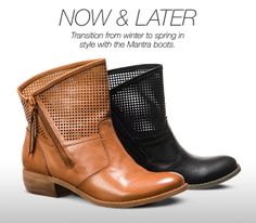 Now and Later: You can't go wrong with the cool style of the MANTRA boots from Fergie. Transition from winter to spring #instyle!