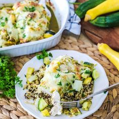 The BEST way to use up zucchini! This Chicken Zucchini Casserole recipe has just a few simple ingredients and one dish for a flavorful weeknight dinner. Easy Family Meals, Easy Meals, Family Recipes, Bean Recipes, Healthy Recipes, Avocado Recipes, Crockpot Recipes, Lentil Recipes, Cabbage Recipes