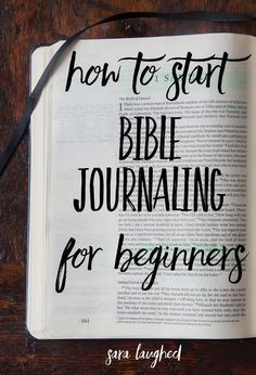 Bible Verses About Faith:How to start Bible journaling for beginners! This is a great step-by-step process for those of you who are interested in Bible journaling but don't know where to start. Pin now, read later! Bible Journaling For Beginners, Bible Study Journal, Scripture Study, Bible Verses, Scriptures, Bible Art, Devotional Journal, Prayer Journals, Beginner Bible Study
