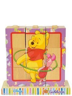 Tässä suloisessa Nalle Puh -aiheisessa kuutiopalapelissä on neljä erilaista koottavaa kuvaa. Kootun palapelin koko on 14 x 15 cm. Kuutioilla voi harjoitella myös tornien rakentamista. Voi sitä riemua, kun tornin saa lopuksi kaataa! Kuutioita on yhteensä 9. Yli 2-vuotiaille. Winnie The Pooh, Disney Characters, Fictional Characters, Fantasy Characters, Pooh Bear, Disney Face Characters