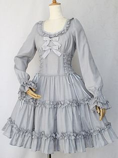 Heck Yeah! Lolita Fashion, Victorian Maiden Lace-up Doll Dress
