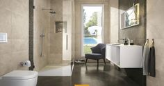Roma is a contemporary collection of stoneware floor tiles and white body wall tiles. Choose the perfect style for modern indoor and outdoor settings. Baño Color Beige, Murs Beiges, Tile Suppliers, Marble Effect, White Bodies, Outdoor Settings, Wall Tiles, Decoration, Stoneware