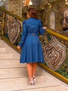 Dress And Heels, Dress Skirt, Shirt Dress, Modest Outfits, Chambray, Girl Fashion, Skirts, Beauty, Dresses