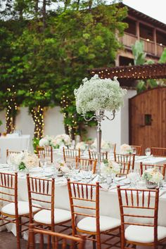 tall, baby's breath #centerpieces