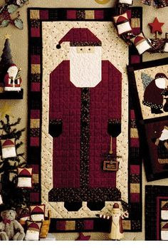 This Christmas Door Banner  features Santa Claus in beautiful rich colors and looks great wherever you choose to hang it.