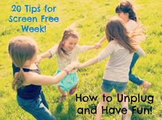 Screen Free Week is finally here! Here are 20 awesome ideas to get your unplugged week off to a great start!