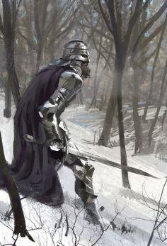ArtStation - Buscando pelea, Eli Maffei Fantasy Concept Art, Fantasy Armor, Medieval Fantasy, Fantasy Character Design, Character Art, High Fantasy, Fantasy World, Valhalla, Knight Art