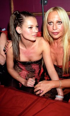 Donatella Versace held the Versace Party in honour of Kate Moss's 25th birthday party in 1999 http://www.dazeddigital.com/fashion/article/18032/1/top-10-early-kate-moss-moments