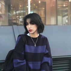 Shot Hair Styles, Curly Hair Styles, Cut My Hair, Hair Cuts, Hair Inspo, Hair Inspiration, Korean Short Hair, Mullet Hairstyle, Hair Reference
