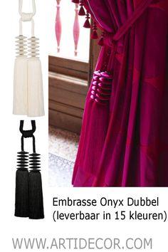 6c26b7c6351b05 Embrasse Onyx Dubbel Sierlijke en prachtige grote kwast embrasse met 2  volle stijlvolle kwasten. Afgewerkt