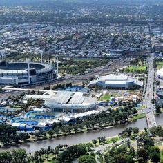So you want somewhere to play... #OldPhotos #Melbourne #Australia #EurekaTower #ViewFromTheTop #RodLaverArena #MelbourneCricketGround #AAMIPark #YarraPark #HisenseArenaMelbourne #Y2011