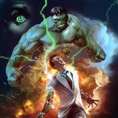 #Hulk #Fan #Art. (Hulk Changing) By: Nick Runge. (THE * 3 * STÅR * ÅWARD OF: AW YEAH, IT'S MAJOR ÅWESOMENESS!!!™)[THANK Ü 4 PINNING!!!<·><]<©>ÅÅÅ+(OB4E)