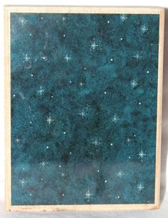 2001 Snowflake Sky by Brother Sister Winter Rubber Stamp OR1011 Cards,Art,Crafts #Stampendous #Background