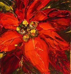 """Simplicity is beauty. Judy Mackey, """"Pointsettia"""" 2011. Oil on canvas."""