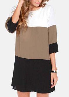 Color Block Dress//