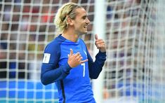 Download wallpapers 4k, Antoine Griezmann, goal, football stars, FFF, soccer, Griezmann, French National Team, footballers