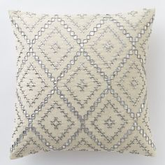 like pattern not color Embellished Diamonds Pillow Cover | west elm