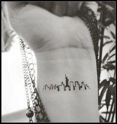New York skyline tattoo temporary tattoos by SharonHArtDesigns