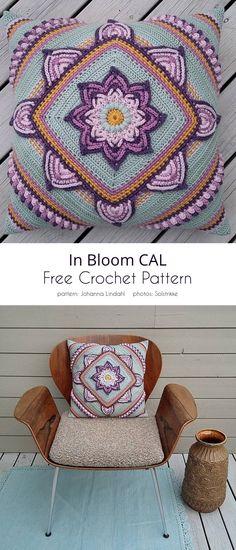 Crochet Cushion Cover, Crochet Cushions, Crochet Pillow, Crochet Motif, Crochet Stitches, Crochet Patterns, Crochet Blocks, Afghan Patterns, Blanket Crochet