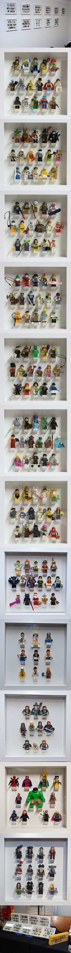 Collectible Minifigures in IKEA Ribba Frames #LEGO #Minifigures #IKEA