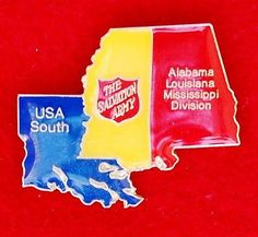 The Salvation Army Alabama Louisiana Mississippi Division Pin