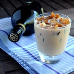 Chilled Baileys served over espresso ice cubes.... perfect end to a Thursday afternoon.