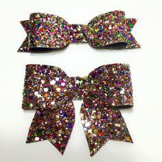 Kaleidescope Mix/ Glitter Hair Bow / Sparkling Hair Clip / Hair Clip /Girl baby by teaandtoastx on Etsy https://www.etsy.com/listing/217773415/kaleidescope-mix-glitter-hair-bow