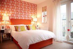 Statement Orange Bedroom