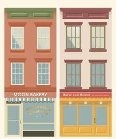 Buildings by Donghyun Lim, via Behance