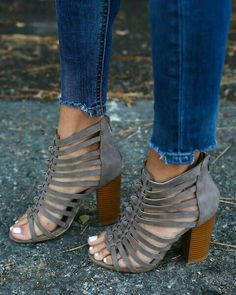 de11be199003 We are loving the simple elegance of our grey hued Bungalow Heel