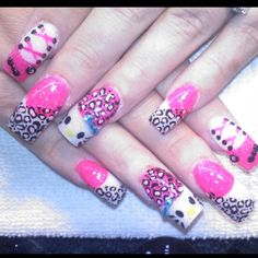 Hello Kitty Acrylics Nails by Celeste Young