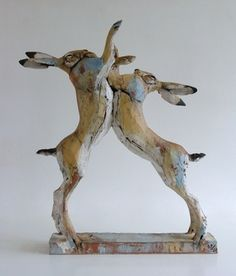 Art Edition 'Jousting Hares'. 2014. Nichola Theakston