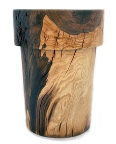 ALMA ALLEN, WALNUT STOOL: almost too pretty to sit on.