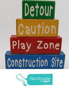 Primitive Country Wood Stacking Sign Blocks Little Boys Room-Nursery Construction Decor Detour-Caution-Play Zone-Construction Site from Blocks Upon A Shelf http://www.amazon.com/dp/B017OT1ZQ2/ref=hnd_sw_r_pi_dp_qyRjxb0HYQAKV #handmadeatamazon