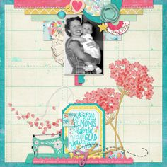 """MOM&ME by Connie created with the May 2015 Collection """"Fabulous"""" by Michelle Coleman found exclusively at www.LittleDreamer.co"""