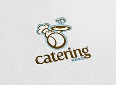 A Pixellogo template review about Logo-1528, a fun design that will make your brand look more approachable. The colour palette chosen for this logo template focuses on more subtle colours, a light shade of blue combined with a rich brown-combination that works well with catering related business #logo #design  $29.00