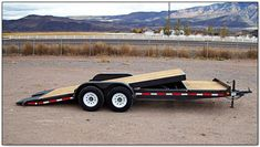 car trailer plans - Szukaj w Google Toy Hauler Trailers, Toy Hauler Camper, Dump Trailers, Custom Trailers, Tilt Trailer, Trailer Diy, Trailer Plans, Trailer Build, Homemade Trailer