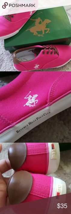 Pink Sneakers Pink Beverly hills polo club sneakers. These shoes are in great condition they have only been worn a handful of times. Please feel free to make an offer, or ask any questions. Beverly Hills Polo Club Shoes Sneakers
