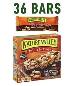 Nature Valley Granola Bars, Sweet and Salty Nut, Dark Chocolate Peanut & Almond, 6 Bars - 1.2 oz (Pack of 6) *** Read more reviews of the product by visiting the link on the image.