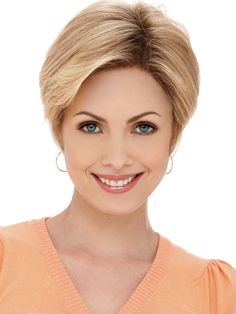 Capless Short High Quality Synthetic  Light Gold Hair Wig