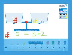 Numicon Balance Scales help visualise numbers